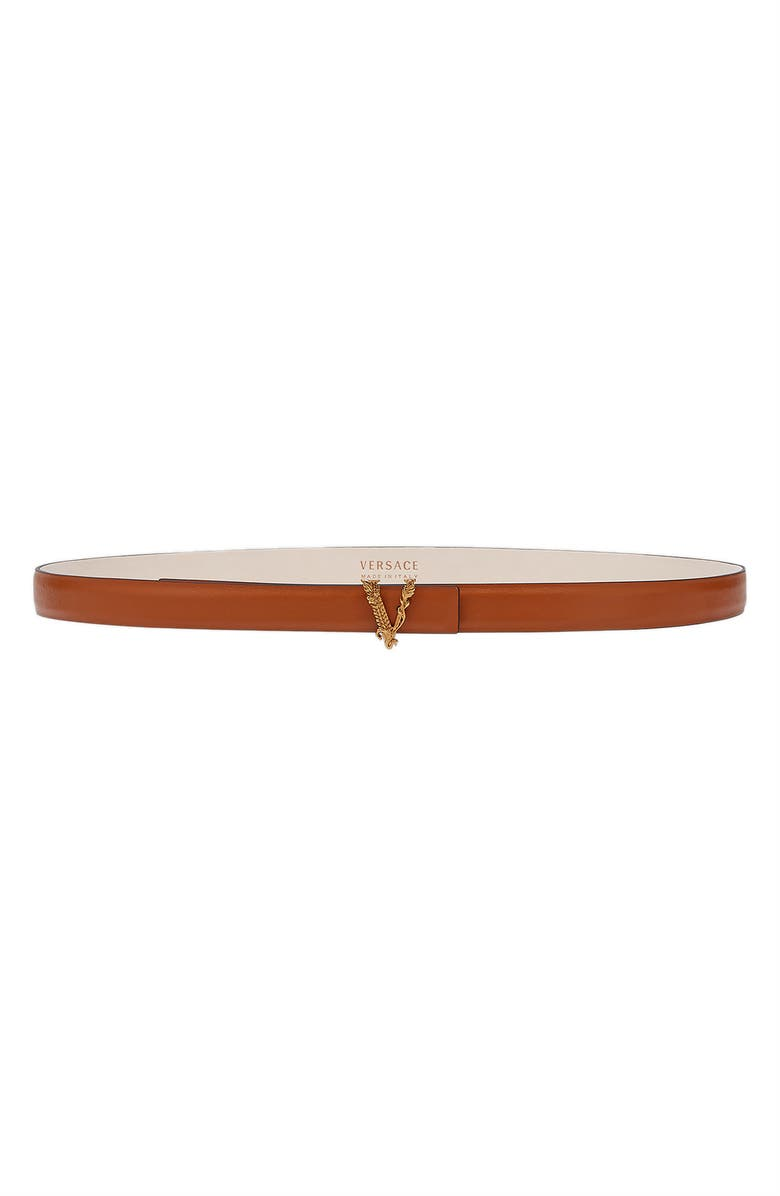 VERSACE FIRST LINE Greca Belt, Main, color, GOLD TRIBUTE