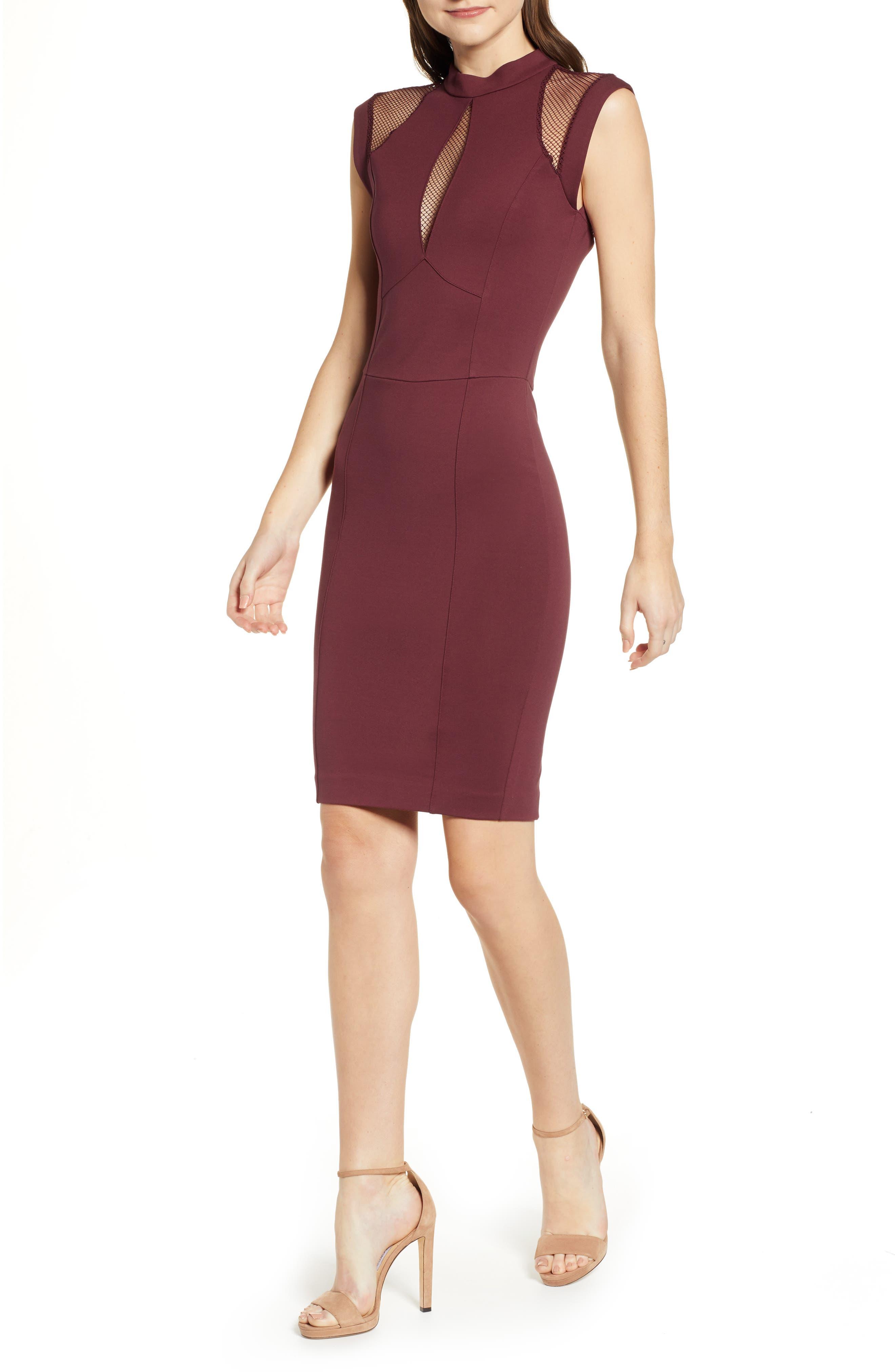 Sentimental Ny Galactica Body-Con Dress, Red