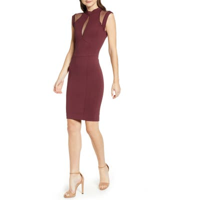 Sentimental Ny Galactica Body-Con Dress, Red