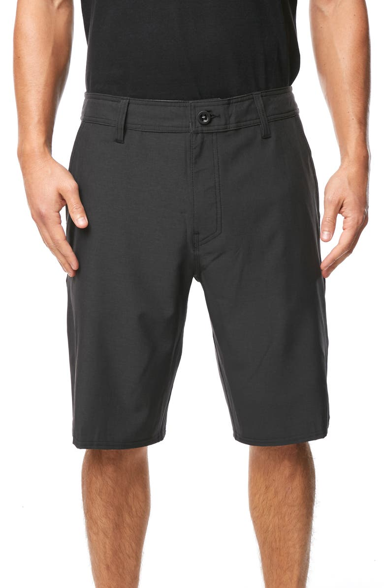 O'NEILL Reserve Heather Hybrid Shorts, Main, color, BLACK