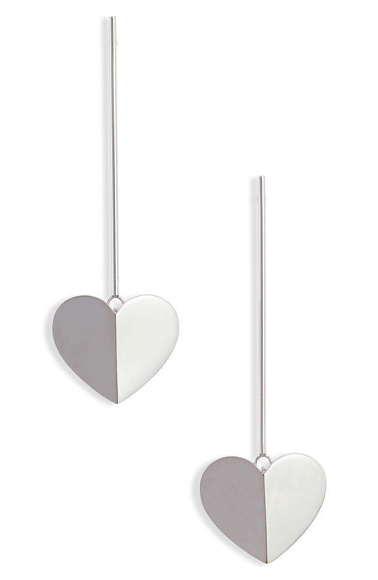 KATE SPADE NEW YORK heritage spade linear earrings, Main, color, 040