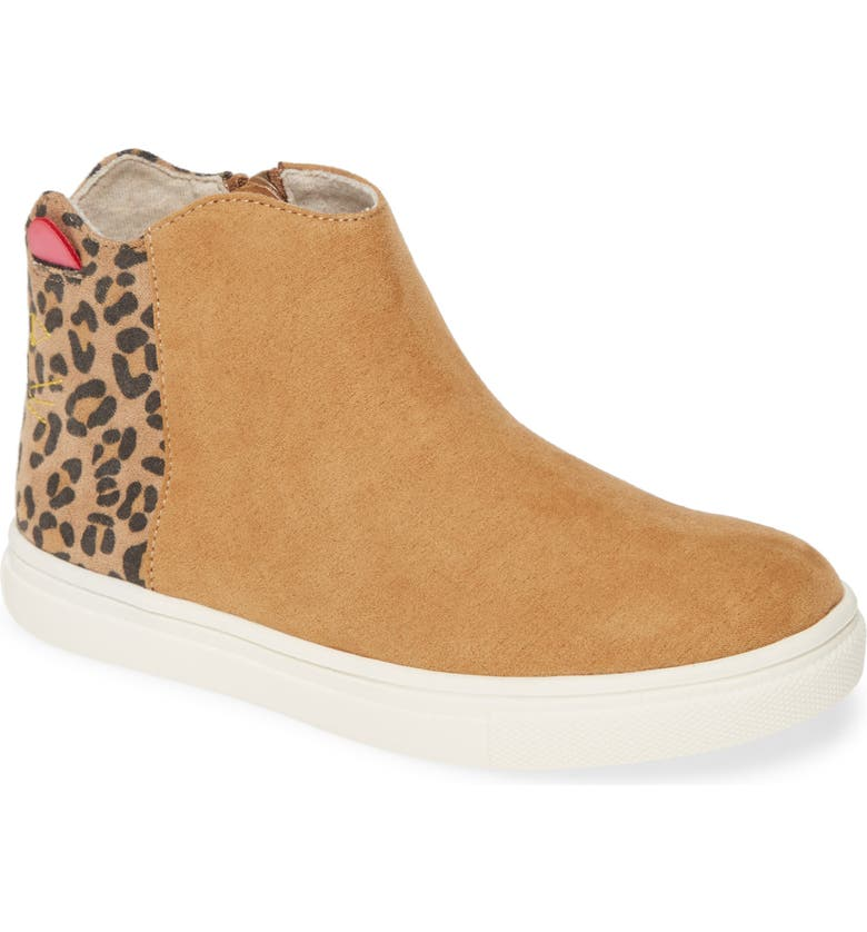 TUCKER + TATE Cat Sneaker, Main, color, CHESTNUT/LEOPARD FAUX SUEDE