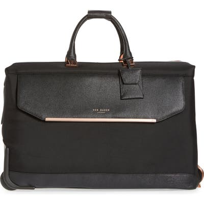 Ted Baker London Large Albany Rolling Duffle Bag - Black