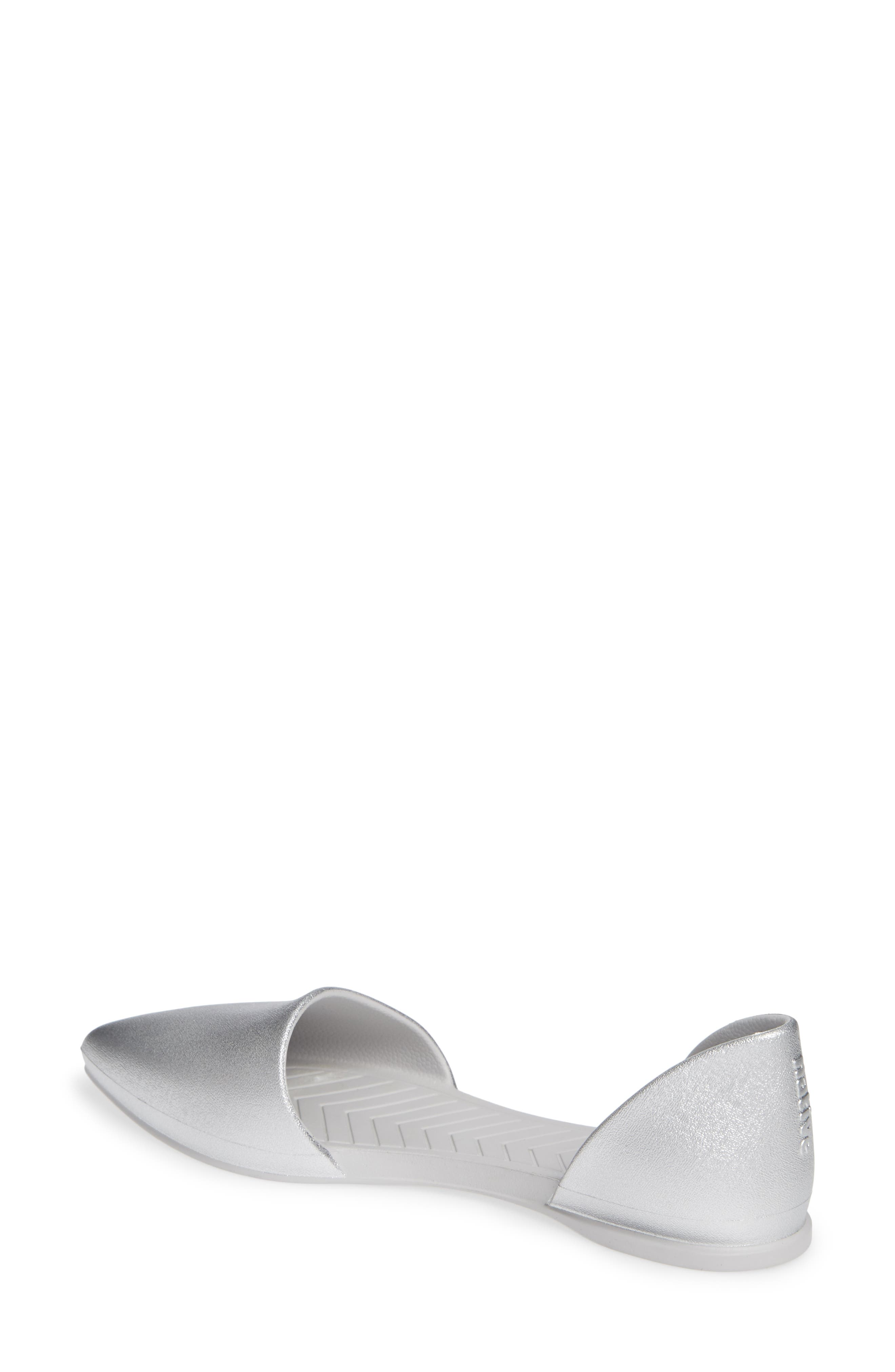 ,                             Audrey Vegan Open Sided Flat,                             Alternate thumbnail 2, color,                             SILVER METALLIC