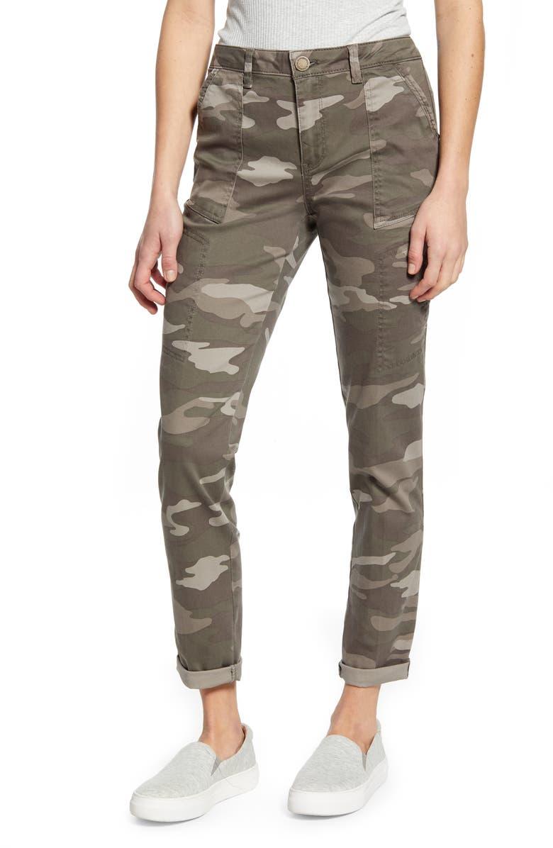 WIT & WISDOM Flex-ellent Camo High Waist Cargo Pants, Main, color, MR-MUSHROOM