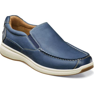 Florsheim Great Lakes Moc Toe Slip-On- Blue
