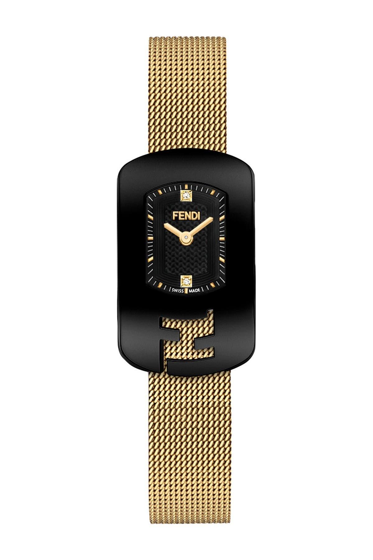 Image of FENDI Women's Stainless Steel Diamond Bracelet Watch, 18 x 31mm - 0.009 ctw
