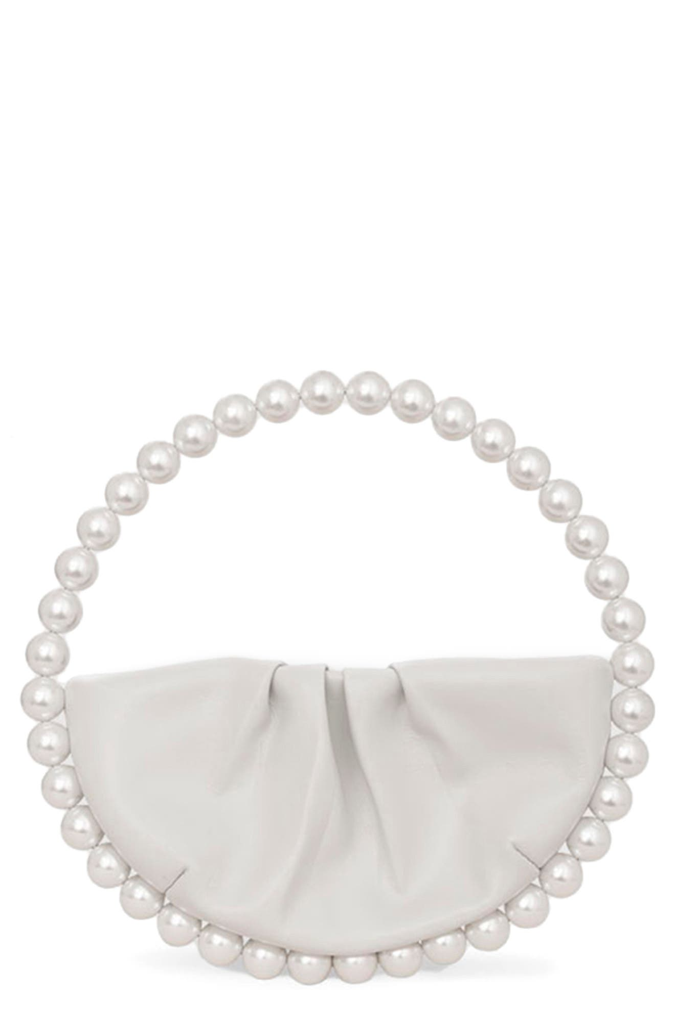 Eternity Imitation Pearl Top Handle Bag