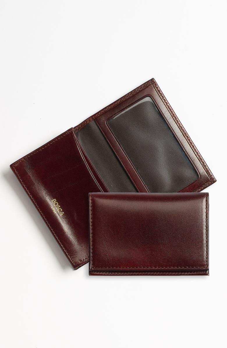 BOSCA 'Old Leather' Gusset Wallet, Main, color, DARK BROWN