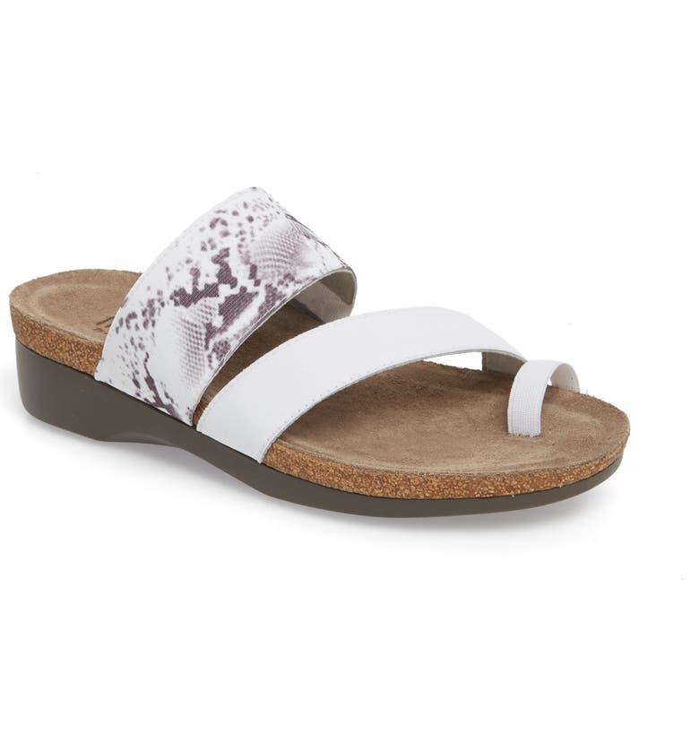 MUNRO 'Aries' Sandal, Main, color, WHITE SNAKE PRINT LEATHER