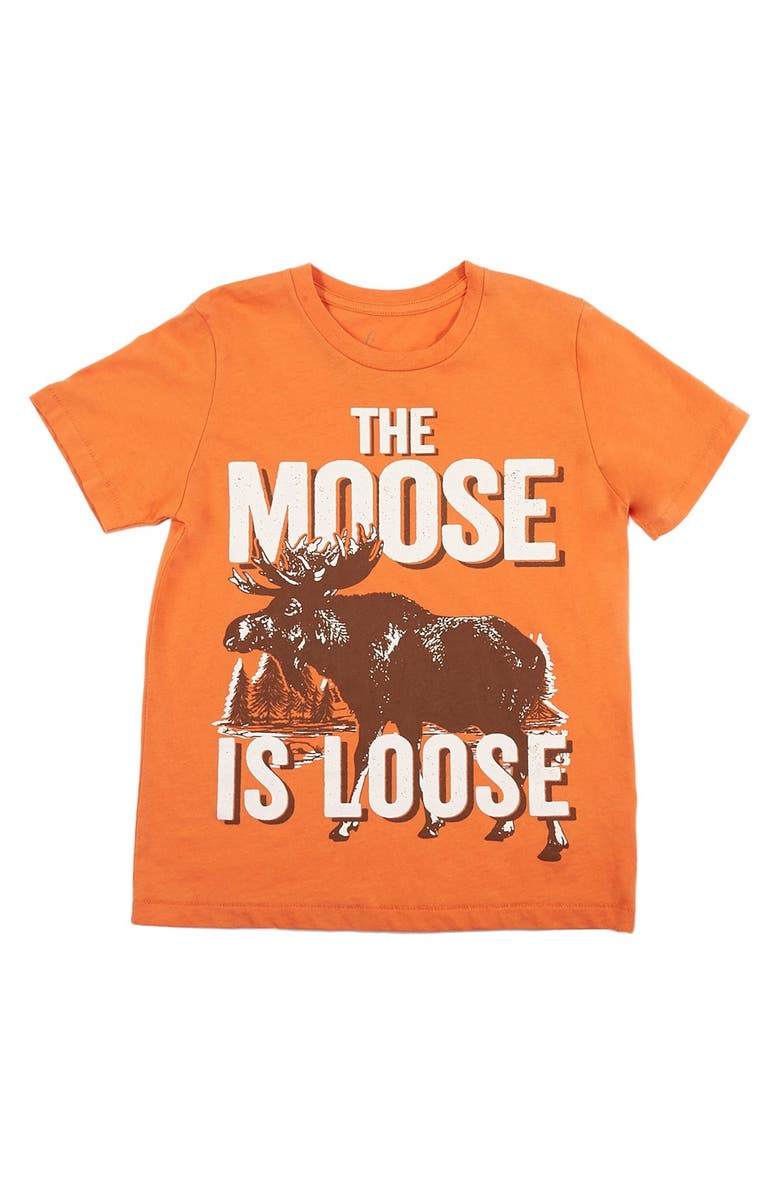 e839321a6 Peek 'Moose is Loose' Graphic Cotton T-Shirt (Toddler Boys, Little ...