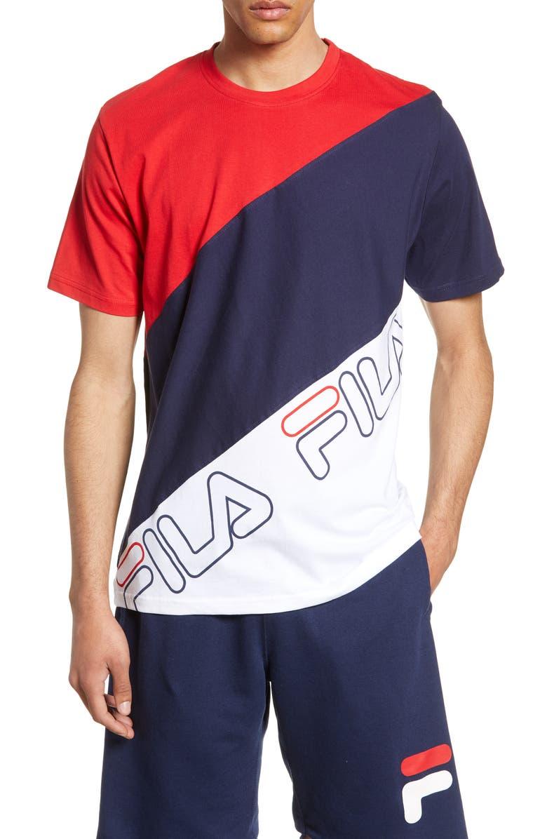 FILA Grove Colorblock T-Shirt, Main, color, 640