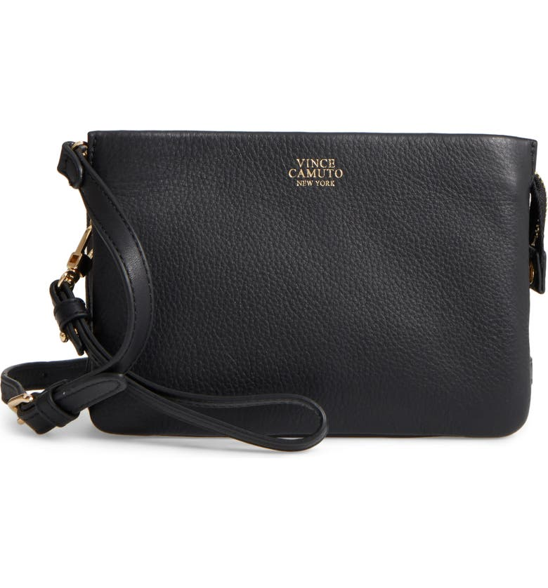 VINCE CAMUTO 'Cami' Leather Crossbody Bag, Main, color, 001