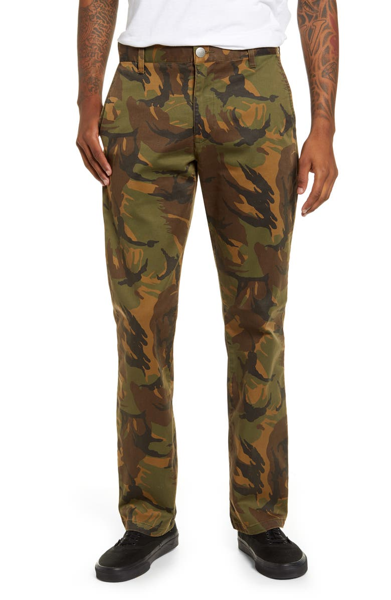 RVCA Week End Solid Straight Leg Pants, Main, color, 340