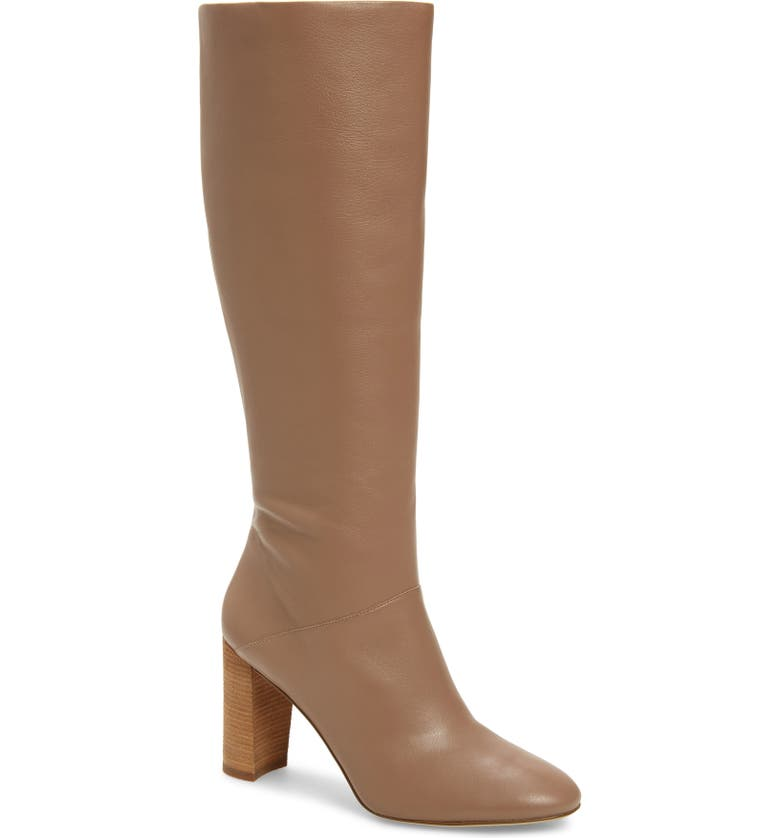 COLE HAAN Glenda Knee High Boot, Main, color, STONE TAUPE LEATHER