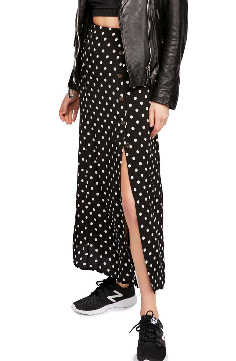 ab015525e50f32 Retro Love Midi Skirt, Main, color, BLACK AND WHITE COMBO