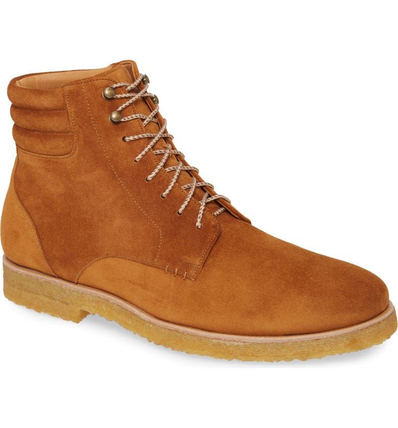 MEZLAN Andria Plain Toe Boot, Main, color, TAN SUEDE