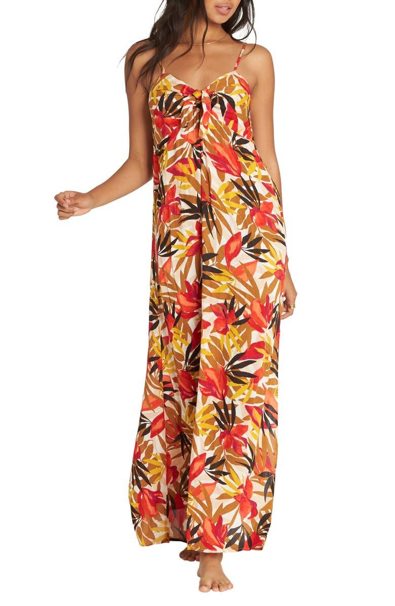 BILLABONG Sweet Kiss Maxi Dress, Main, color, MULTI