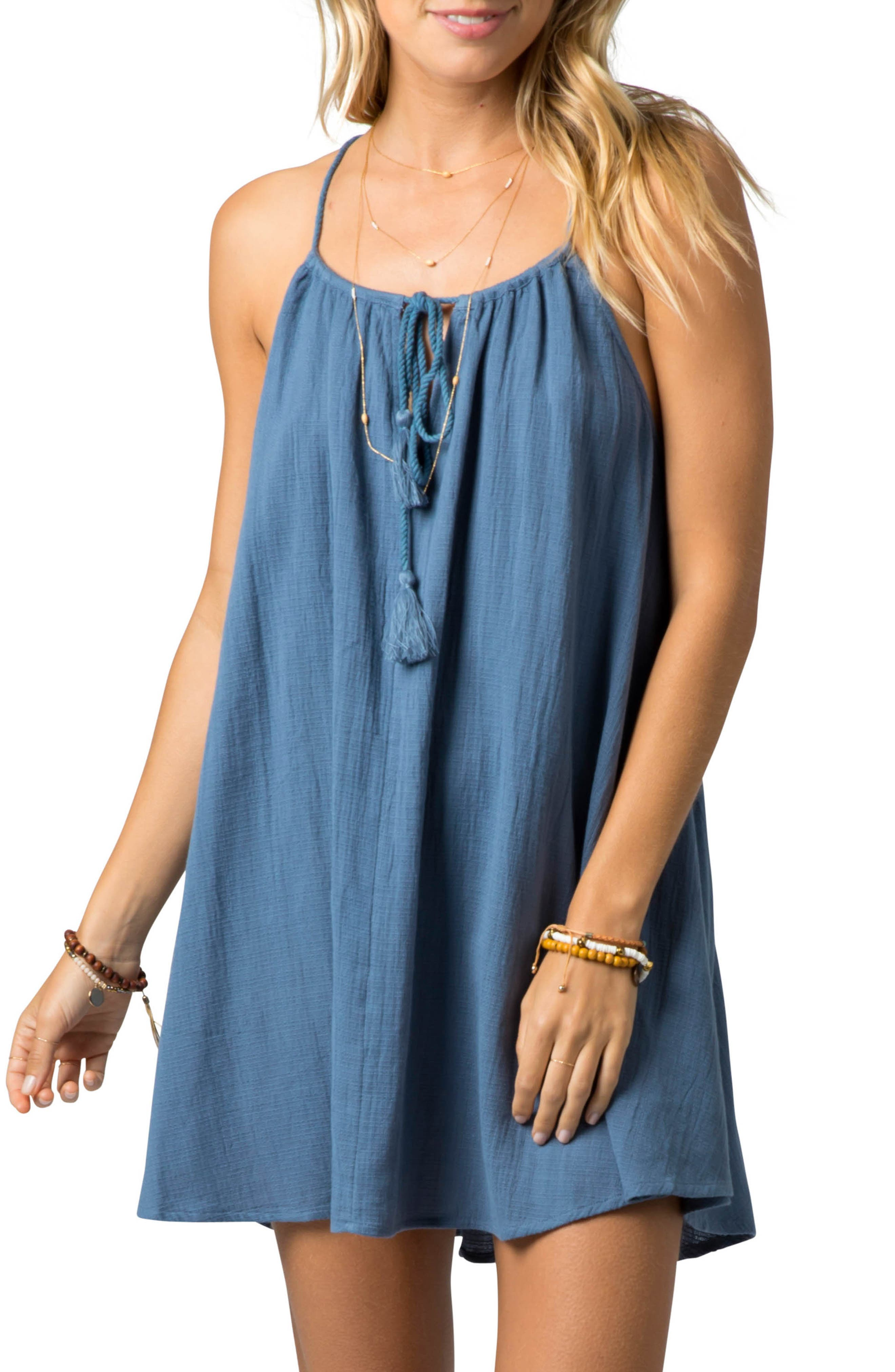 Rip Curl Classic Surf Cover-Up Minidress, Blue