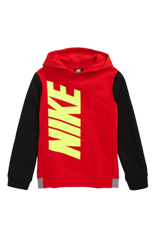 Nike Kids' Big Boys Core Amplify Pullover Hoodie In University Red/ Black