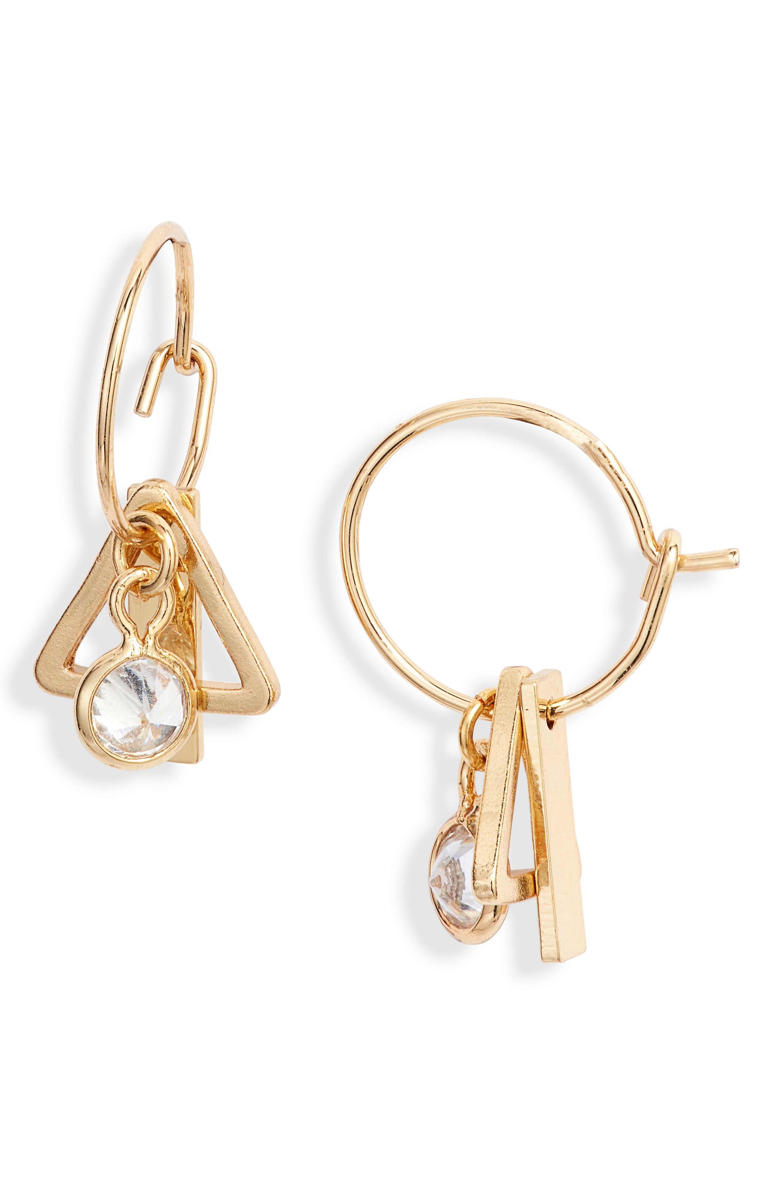 Tiny Charm Hoop Earrings