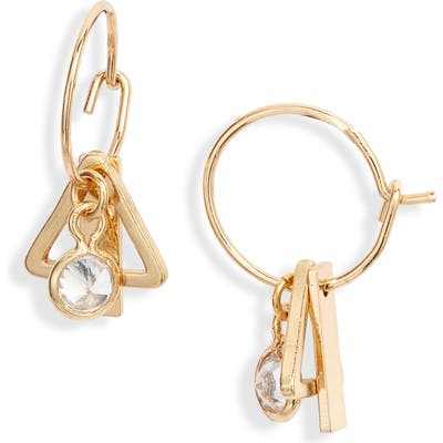 Ettika Tiny Charm Hoop Earrings