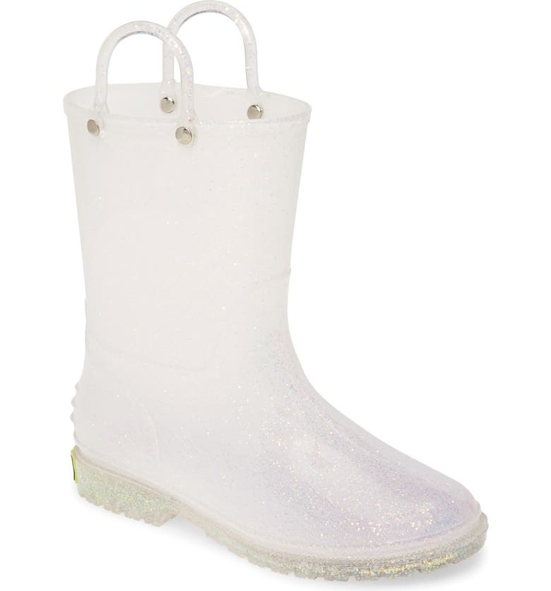 WESTERN CHIEF Glitter Waterproof Rain Boot, Main, color, IRIDESCENT