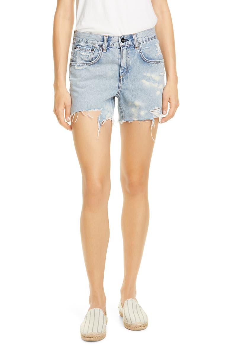RAG & BONE Dre Distressed Cutoff Shorts, Main, color, DARA