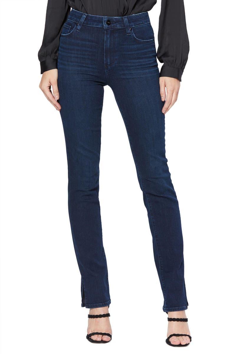 PAIGE Transcend - Hoxton High Waist Straight Leg Jeans, Main, color, 400