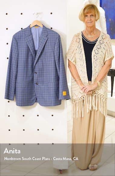 Classic B Fit Plaid Wool Sport Coat, sales video thumbnail