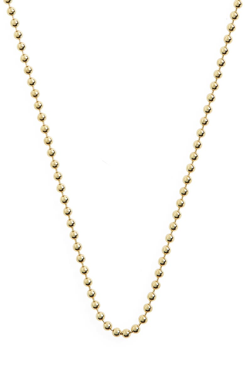 TEMPLE ST. CLAIR 18-Inch Ball Chain Necklace, Main, color, YELLOW GOLD