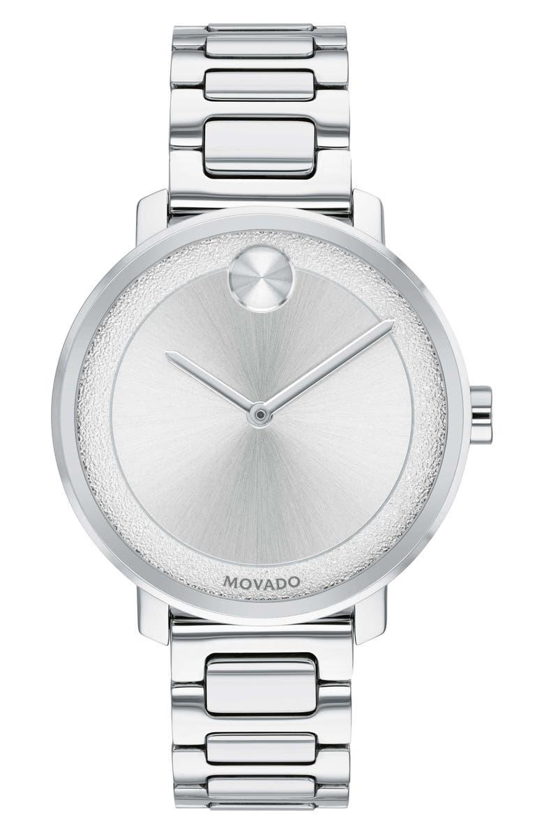 MOVADO Bold Bracelet Watch, 34mm, Main, color, SILVER