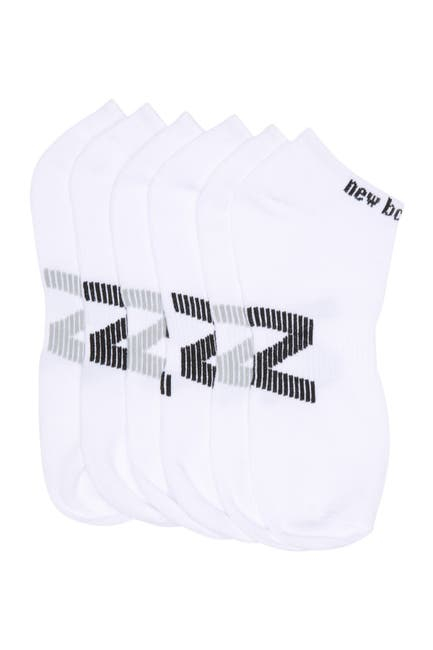Image of New Balance Logo Printed Ankle Cut Socks - Pack of 6