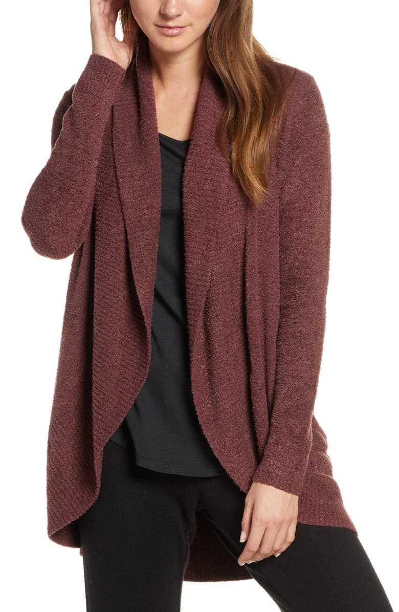 BAREFOOT DREAMS<SUP>®</SUP> CozyChic<sup>™</sup> Lite Circle Cardigan, Main, color, ROSEWOOD