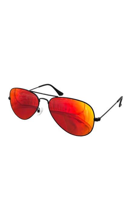 Image of AQS Oliver 58mm Aviator Sunglasses