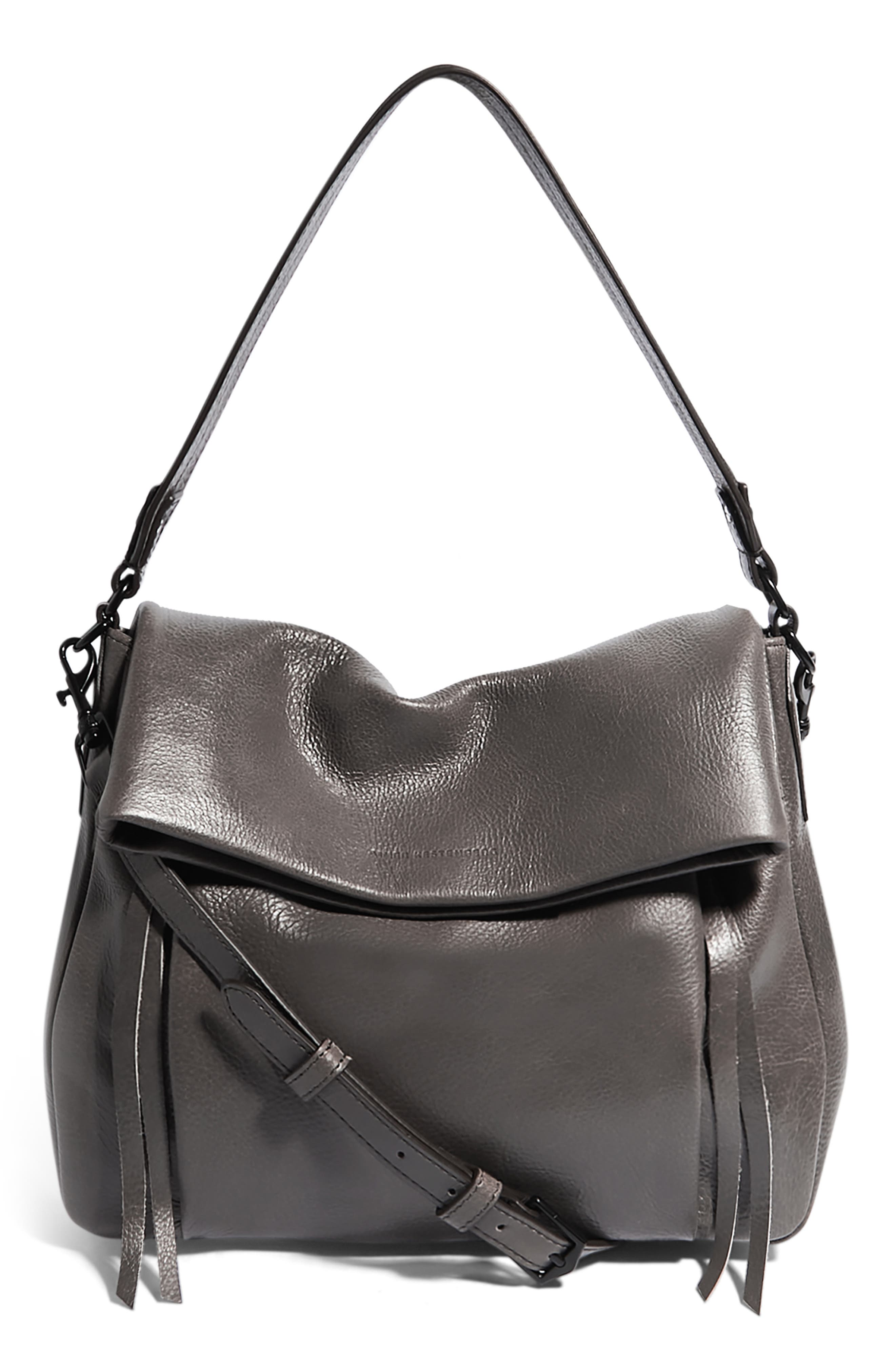 Golden Time Convertible Leather Hobo