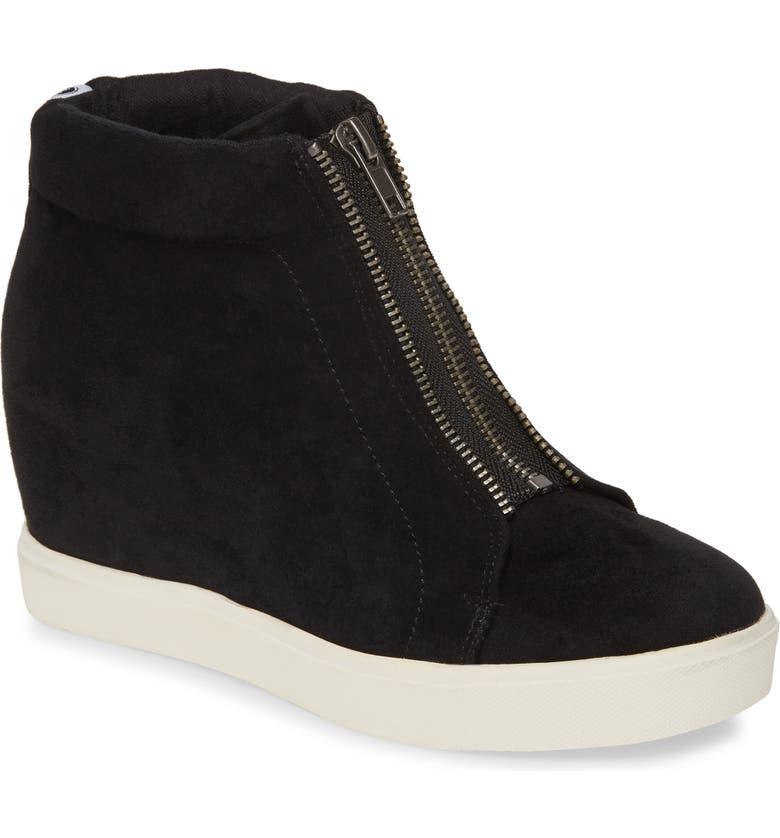 COCONUTS BY MATISSE Zippy Hidden Wedge Sneaker, Main, color, BLACK