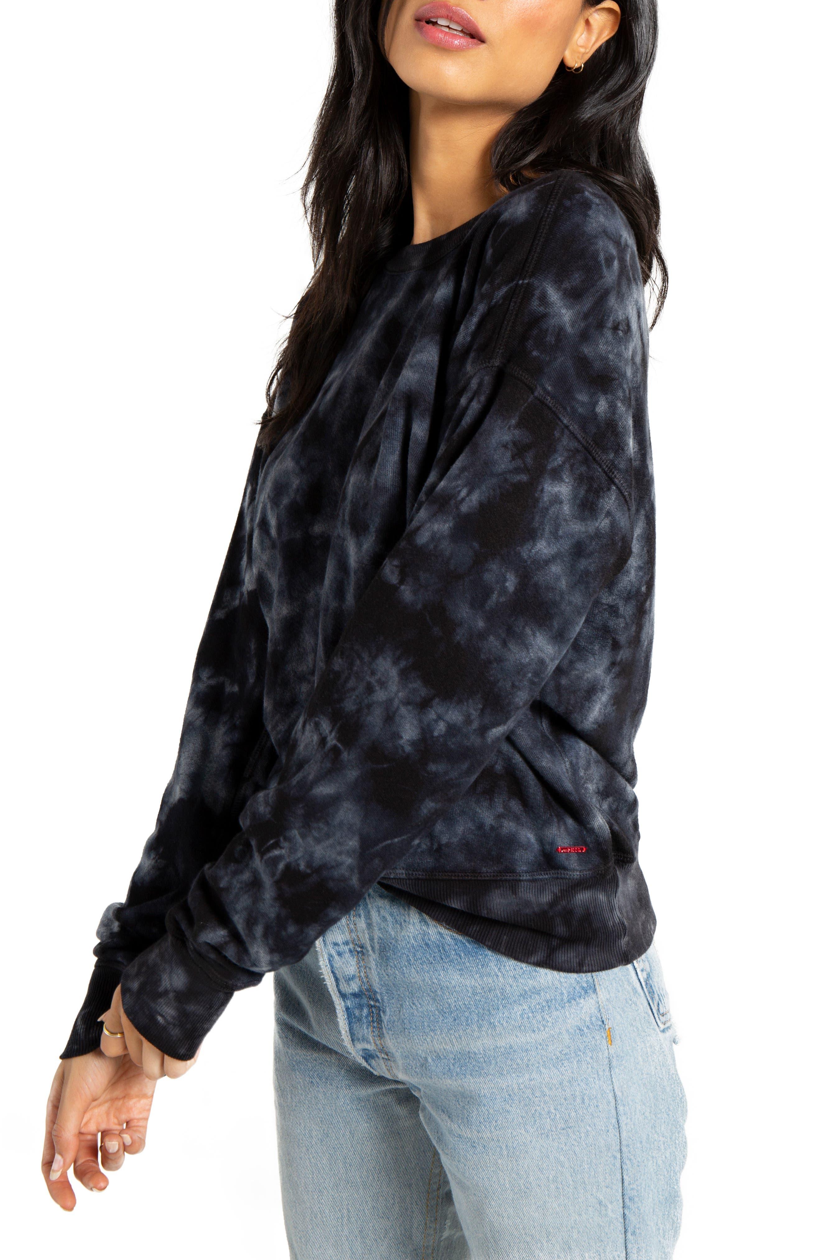,                             Lauren Tie Dye Pullover,                             Alternate thumbnail 3, color,                             BLACK MULTI