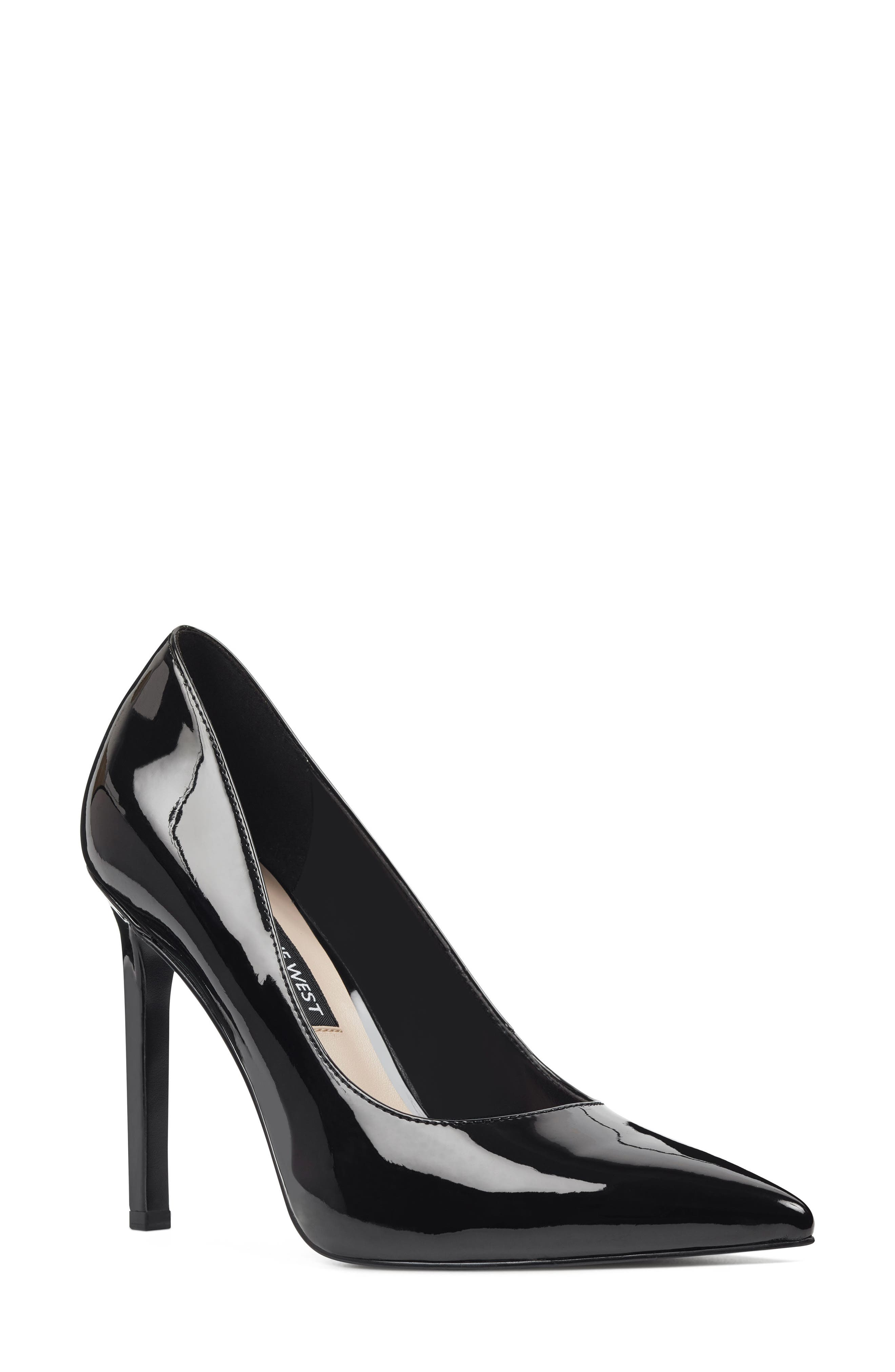 'Tatiana' Pointy Toe Pump, Main, color, BLACK PATENT LEATHER