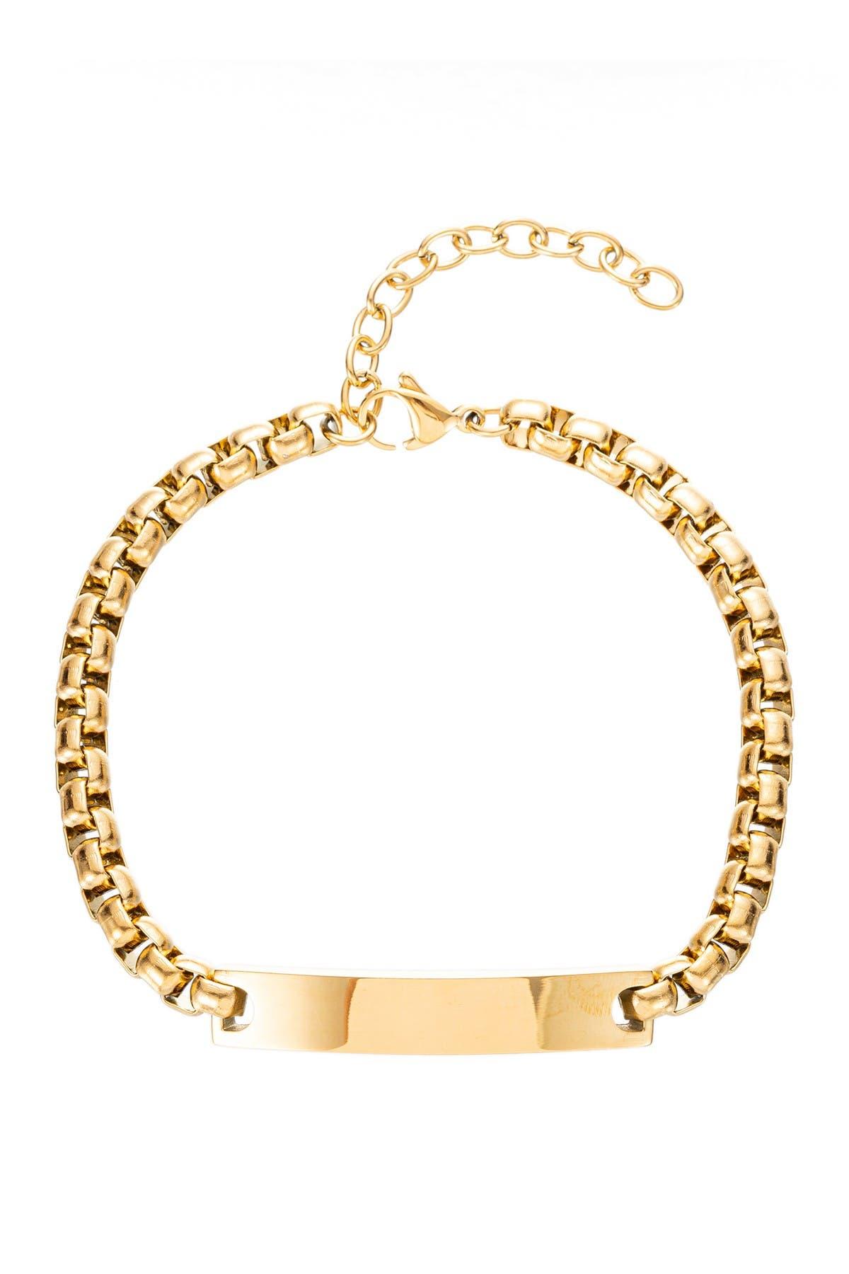 Image of Eye Candy Los Angeles Christopher Titanium Bar Pendant Bracelet