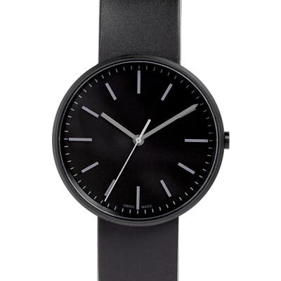 Uniform Wares M-Line Rubber Strap Watch,