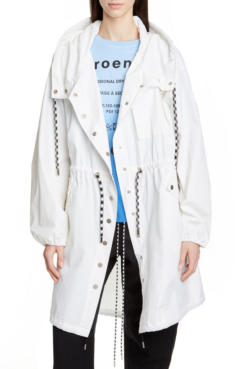 PROENZA SCHOULER WHITE LABEL Proenza Schouler PSWL Crinkle Drawstring Waist Coat, Main, color, OPTIC WHITE