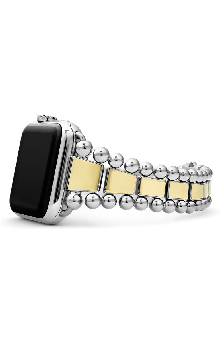 LAGOS Smart Caviar Two-Tone Watch Bracelet for 42/44mm Apple Watch<sup>®</sup>, Main, color, TWO TONE