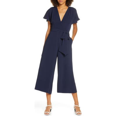 French Connection Bessie Crepe Verona Jumpsuit, Blue