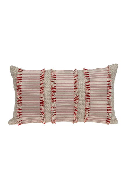 Image of Parkland Collection Zest Transitional Ivory & Beige Throw Pillow