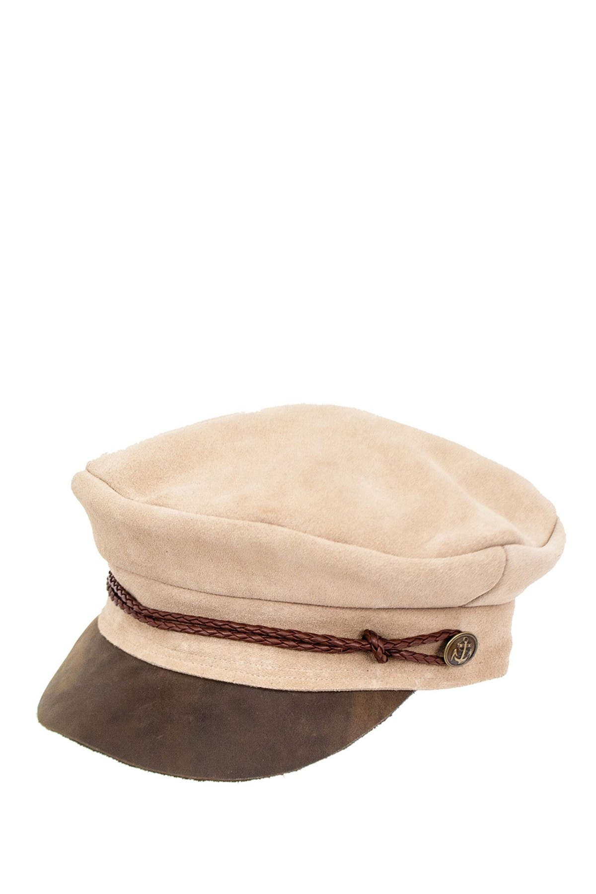 Image of Peter Grimm Headwear Lila Suede Newsboy Cap