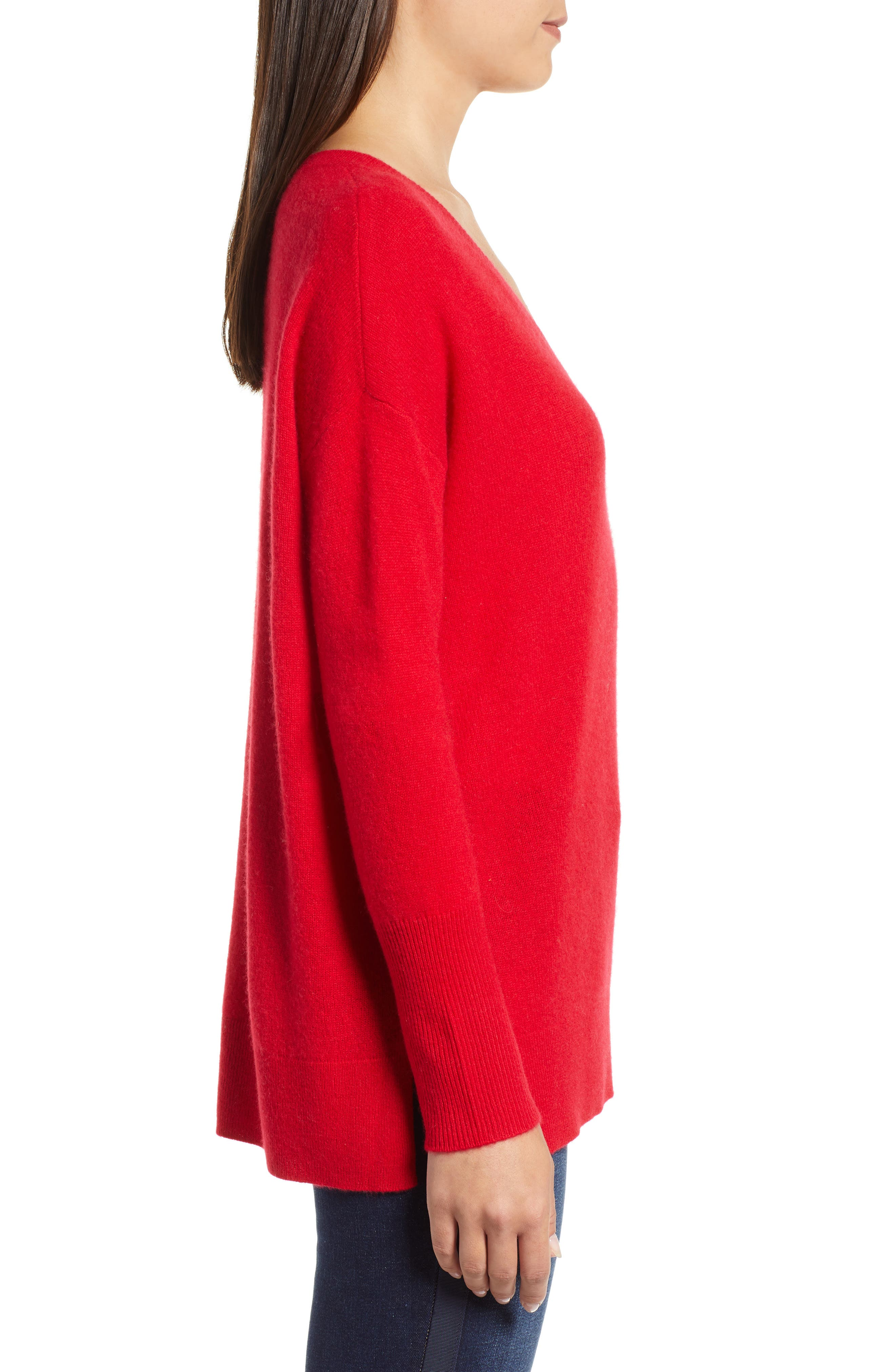 ,                             Relaxed V-Neck Cashmere Sweater,                             Alternate thumbnail 59, color,                             610