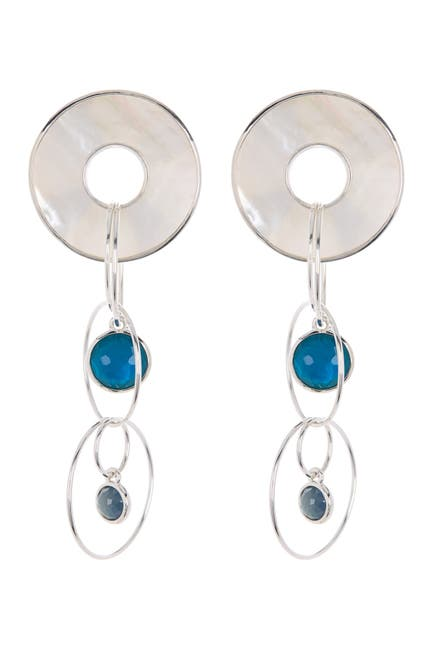 Image of Ippolita Sterling Silver Wonderland Triple Drop Earrings