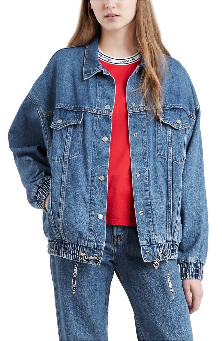 LEVI'S<SUP>®</SUP> Dad Sport Denim Trucker Jacket, Main, color, DOUBLE-CROSS