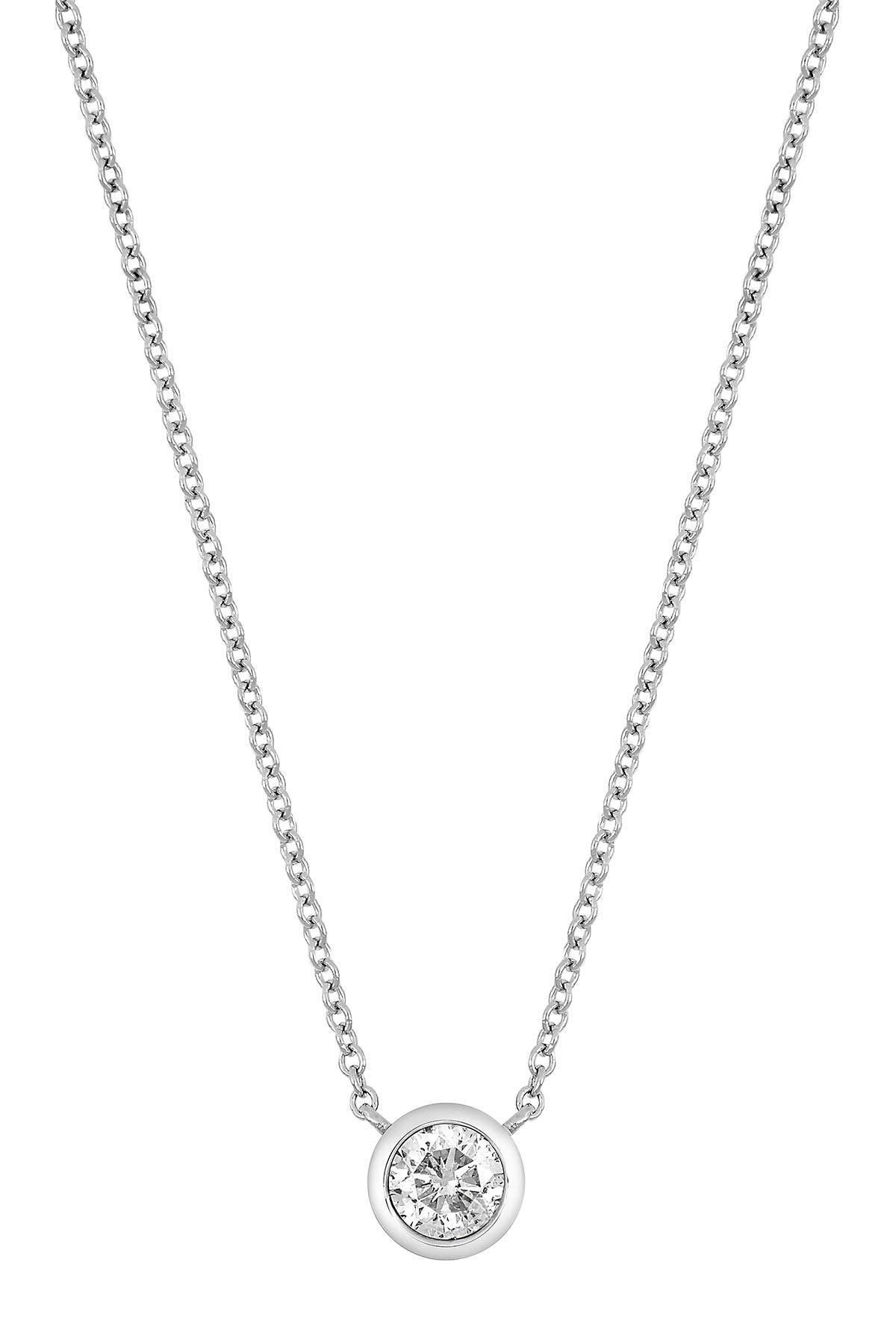 Image of Bony Levy 14K Gold Round-Cut Diamond Pendant Necklace - 0.37 ctw